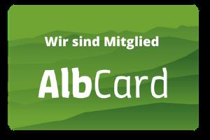 Wir sind Mitglied der AlbCard